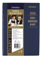 COLLINS TBD TABLE BOOKINGS 2 PAGES PER DAY DIARY BLACK