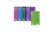 MARBIG COLOURHIDE POCKET NOTE BOOK 112 X 77MM 96 PAGE ASSORTED - PACK OF 5