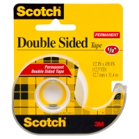 SCOTCH DOUBLE SIDED TAPE 137 HANGSELL 12.7MM X 11.4M - EACH