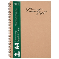 CUMBERLAND ECOWISE ENVIRO DIARY A4 WEEK TO VIEW WIRE RECYCLED BOUND COVER - EACH