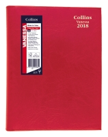 COLLINS VANESSA DIARY A5 WEEK TO VIEW RED