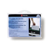 REXEL STACK & SHRED AUTO100+ SHREDDER OIL SHEETS - PACK OF 12