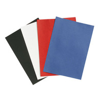 REXEL BINDNG COVERS LEATHER GRAIN 300GSM BLACK - BOX OF 100