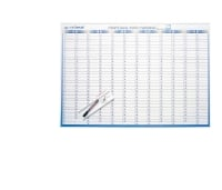WRITERAZE PERPETUAL YEAR PLANNER + DRY ERASE MARKER500 X 700MM - EACH