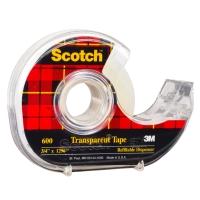 3M SCOTCH 600 TRANSPARENT TAPE DISPENSER 19MM X 33M