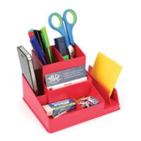 LYRECO COLOURS DESK ORGANISER 163 X 133 X 108MM WATERMELON - EACH