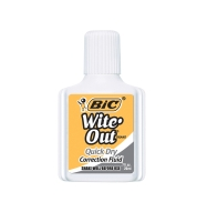 BIC WITE OUT CORRECTION FLUID 20ML - EACH