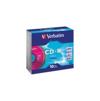 VERBATIM CD-R 700MB 52X JEWEL CASE - PACK OF 10