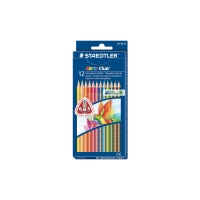 STAEDTLER NORIS CLUB TRIANGULAR COLOURED PENCILS ASSORTED - PACK OF 12