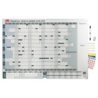 SASCO FINANCIAL YEAR WALL PLANNER 870 X 610MM - EACH