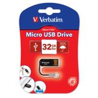 VERBATIM STORE N GO MICRO USB DRIVE 32GB - EACH