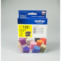 BROTHER INKJET CARTRIDGE LC-133 YELLOW - EACH