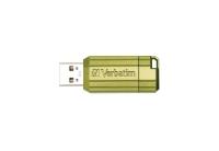 VERBATIM STORE N GO PINSTRIPE 8GB EUCALYPTUS GREEN - EACH