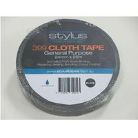 STYLUS 399 CLOTH TAPE 48MM X 25M BLACK - EACH