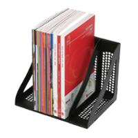 MARBIG ENVIRO 100% RECYCLED MODULAR BOOK RACK 280 X 220 X 220MM BLACK -PACK OF 4