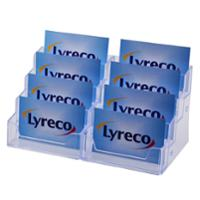 LYRECO 8 TIER COUNTER BUSINESS CARD HOLDER 196 X 92 X 93MM - EACH