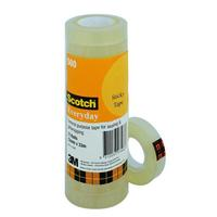SCOTCH EVERYDAY TRANSPARENT TAPE 500 12MM X 33M - PACK OF 12