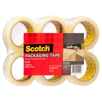 SCOTCH 400 PACKAGING TAPE 48MM X 75M CLEAR - PACK OF 6