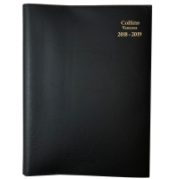 VANESSA FINANCIAL YEAR DIARY DAY TO PAGE A4 BLACK- EACH