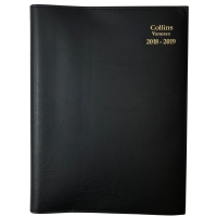 VANESSA FINANCIAL YEAR DIARY DAY TO PAGE A5 BLACK- EACH