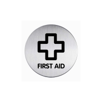DURABLE PICTOGRAM SIGN FIRST AID 83MM - EACH
