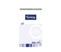 LYRECO 60% RECYCLED SPIRAL BOUND TOP OPENING NOTE BOOK 200X127MM 300 PAGE - EACH