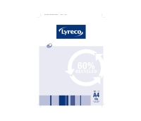 LYRECO 60% RECYCLED PLAIN NOTE PAD A4 80 PAGE - PACK OF 10