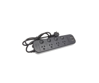 LEDAH 4 OUTLET / 4 USB POWERBOARD 1M BLACK - EACH