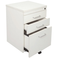 RAPID SPAN MOBILE PEDESTAL 3 DRAWER WHITE - EACH