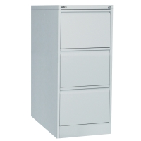 GO STEEL ANTI TILT FILING CABINET 3 DRAWER SILVER GREY - EACH