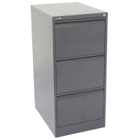 GO STEEL ANTI TILT FILING CABINET 3 DRAWER GRAPHITE RIPPLE - EACH