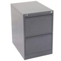 GO STEEL ANTI TILT FILING CABINET 2 DRAWER GRAPHITE RIPPLE - EACH