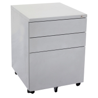 GO STEEL MOBILE PEDESTAL 450X500X610 SILVER GREY - EACH