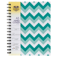 SPIRAX 565 CHEVRON HARD COVER NOTE BOOK A5 200 PAGE MINT - EACH