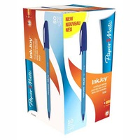 PAPER MATE INKJOY 100 1.0MM BLUE - BOX OF 50