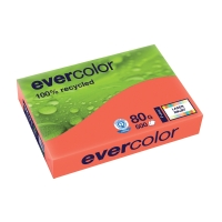 EVERCOLOR 100% RECYCLED PAPER 80GSM A4 RASPBERRY - REAM OF 500 SHEETS