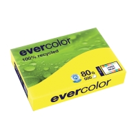 EVERCOLOR 100% RECYCLED PAPER 80GSM A4 YELLOW - REAM OF 500 SHEETS