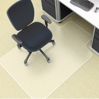 MARBIG DELUXE PVC CHAIRMAT 1140X1340MM LARGE - EACH