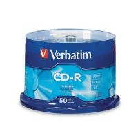 VERBATIM CD-R 80MIN/700MB 52X SPINDLE - PACK OF 50