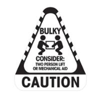 STEALTH 790684  CAUTION BULKY  LABEL - ROLL OF 250 LABELS