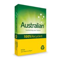 AUSTRALIAN A4 100% RECYCLED PAPER 80GSM WHITE - BOX OF 5 REAMS