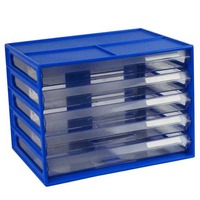 LYRECO DOCUMENT CABINET A4 5 DRAWER BLUEBERRY - EACH
