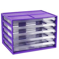 LYRECO DOCUMENT CABINET A4 5 DRAWER GRAPE - EACH