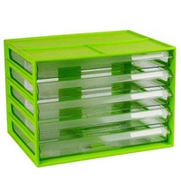 LYRECO DOCUMENT CABINET A4 5 DRAWER LIME - EACH