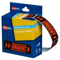 AVERY URGENT DISPENSER LABELS, 64X19MM, 125 LABELS