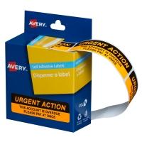 AVERY URGENT ACTION DISPENSER LABELS, 64X19MM, 125 LABELS