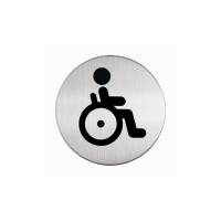 DURABLE4 PICTOGRAM SIGN WC HANDICAPED 83MM - EACH