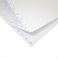 ALLIANCE 2 PART PERFORATED COMPUTER PAPER PLAIN 70GSM 11X9.5  - BOX OF 1000