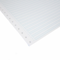 ALLIANCE 1 PART  NON-PERFORATED COMP PAPER BLU RULED 70GSM  11X15  - BOX OF 2000