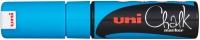 UNI CHALK PWE-8K CHALK MARKER CHISEL TIP 8MM LIGHT BLUE - EACH